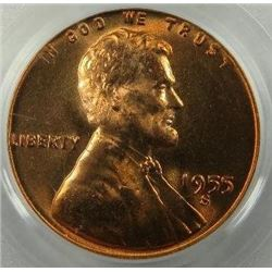 1955-S Lincoln Wheat Back Cent PCGS MS-66