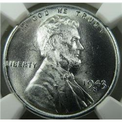 1943-S Lincoln Steal Wheat Back Cent NGC MS-67