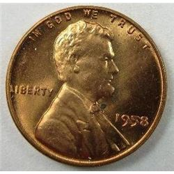 1958 Lincoln Wheat Back Cent