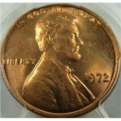 1972 Lincoln Cent PCGS MS-64
