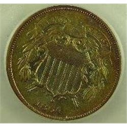 1864 Shield Two Cent