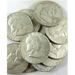 1963-D Franklin Half Dollars