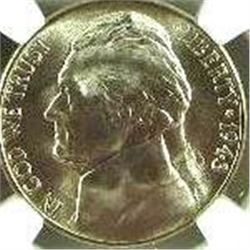 1943-S Jefferson Nickel NGS MS-66