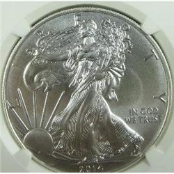 2014 Silver Eagle NGC MS-70