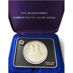 1973 Sterling Silver American Revolution Bicentennial Commemorative Medal