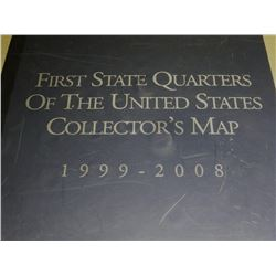 State Quarters Collectors Map w/coins