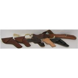 BOX LOT OF 6 HOLSTERS, INCLUDING WALTHER PPK