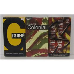 THREE GUERRA COLONIAL VHS TAPES