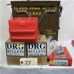 .45 ACP RELOADING LOT AND AMMO CAN