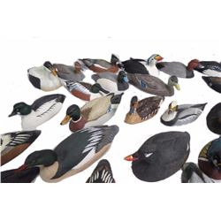 Collection of Miniature Duck Decoys
