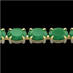 29 CTW Emerald Eternity Designer Inspired Tennis Bracelet 14K Yellow Gold - REF-180X2T - 23388
