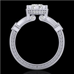 1.71 CTW VS/SI Diamond Art Deco Ring 18K White Gold - REF-442F5N - 37061