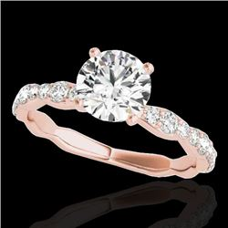 1.4 CTW H-SI/I Certified Diamond Solitaire Ring 10K Rose Gold - REF-156H4A - 34872