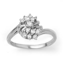0.25 CTW Certified VS/SI Diamond Ring 18K White Gold - REF-47N3Y - 13774