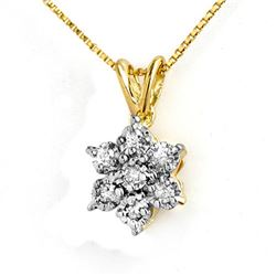 0.25 CTW Certified VS/SI Diamond Pendant 10K Yellow Gold - REF-20F2N - 12610