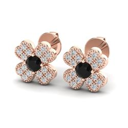 0.54 CTW Micro Pave VS/SI Diamond Earrings 14K Rose Gold - REF-30F5N - 20039