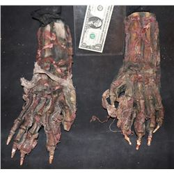 MUMMY ALIEN DEMON CREATURE WEARABLE COSTUME GLOVES 1