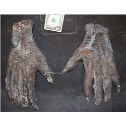 MUMMY ALIEN DEMON CREATURE WEARABLE COSTUME GLOVES 2