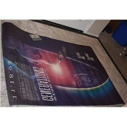 STAR TREK GENERATIONS RARE DOUBLE SIDED BACK LIT THEATER POSTER