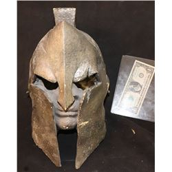 ZZ-CLEARANCE SPARTAN HELMET WITH FACE OOAK MADE FOR THE HISTORY CHANNEL