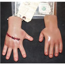 SEED OF CHUCKY SCREEN USED HERO ANIMATRONIC PUPPET HANDS MATCHED PAIR