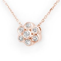 0.25 CTW Certified VS/SI Diamond Necklace 14K Rose Gold - REF-27M8H - 10673