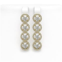 6.14 CTW Diamond Designer Earrings 18K Yellow Gold - REF-969A8X - 42676