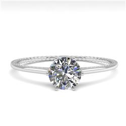 0.51 CTW VS/SI Diamond Solitaire Engagement Ring 18K White Gold - REF-96F8N - 35883