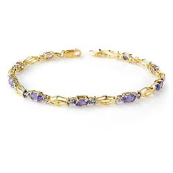 2.10 CTW Tanzanite Bracelet 10K Yellow Gold - REF-31K3W - 14262