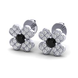 0.54 CTW Micro Pave VS/SI Diamond Earrings 18K White Gold - REF-33N3Y - 20040