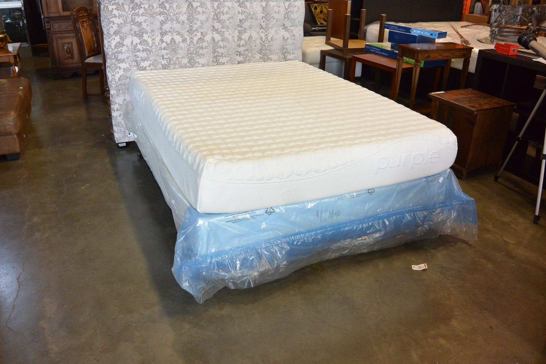 purple brand queen size mattress and box spring