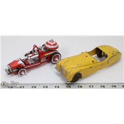 HUBLEY CAR AND TIN WIND UP COLLECTIBLE