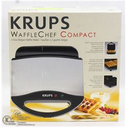 KRUPS WAFFLE CHEF COMPACT