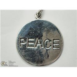 "5) STERLING SILVER ""PEACE"" PENDANT"