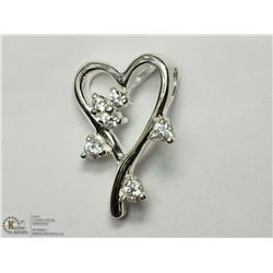 7) STERLING SILVER CZ PENDANT