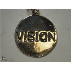 "17) STERLING SILVER ""VISION"" PENDANT"