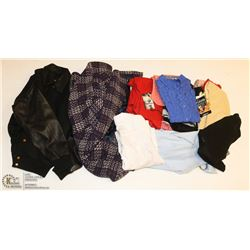 LARGE BOX OF ASSORTED WOMENS CLOTHES