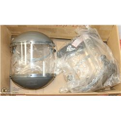 BOX OF 2 NEW SAFETY FACE SHIELDS.