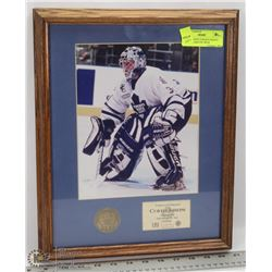 CURTIS JOSEPH TORONTO MAPLE LEAFS FRAMED PIC WITH