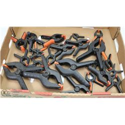 FLAT OF ASSORTED SIZED CLAMPS