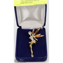 FAIRY STYLE BROOCH WITH RHINESTONE INLAYS