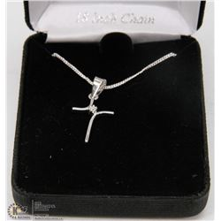 STERLING SILVER WRAPPED CROSS BY RADIANCE