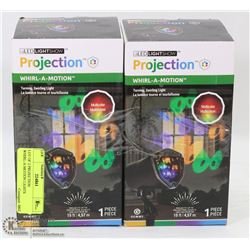 LOT OF 2 PROJECTION WHIRL-A-MOTION LIGHTS