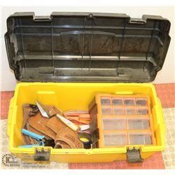 TOOL BOX WITH TOOL BELT AND MORE