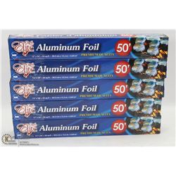 "LOT OF 5 ROLLS OF 12""X50' ALUMINUM FOILS"