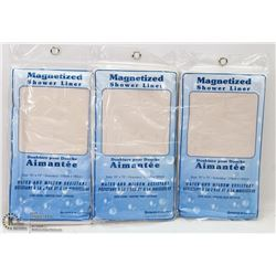 LOT OF 3 MAGNETIZED SHOWER LINER