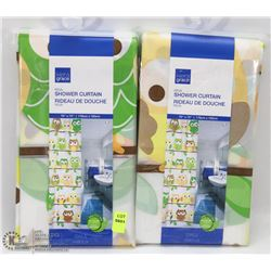 LOT OF 2 SHOWER CURTAINS