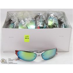 CASE OF OAKLEY REPLICA SUNGLASSES, SILVER & ORANGE