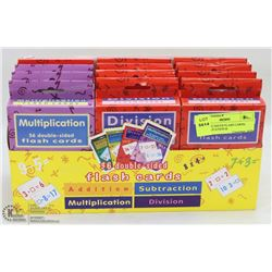 BOX OF 12 MATH FLASH CARDS, MULTIPLICATION &