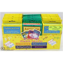 BOX OF 12 MATH FLASH CARDS, ADDITION & SUBTRACTION